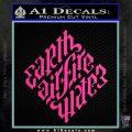 Davinci Code Earth Air Fire Water Symbol Decal Sticker Da Hot Pink Vinyl 120x120