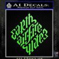 Davinci Code Earth Air Fire Water Symbol Decal Sticker Da Lime Green Vinyl 120x120