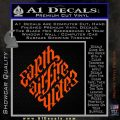 Davinci Code Earth Air Fire Water Symbol Decal Sticker Da Orange Vinyl Emblem 120x120