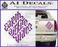 Davinci Code Earth Air Fire Water Symbol Decal Sticker Da Purple Vinyl 120x97