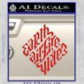 Davinci Code Earth Air Fire Water Symbol Decal Sticker Da Red Vinyl 120x120