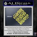 Davinci Code Earth Air Fire Water Symbol Decal Sticker Da Yelllow Vinyl 120x120