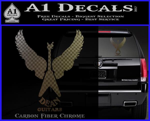 Dean Guitars Wings Logo Vinyl Decal Sticker A1 Decals