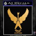 Dean Guitars Wings Logo Vinyl Decal Sticker Metallic Gold Vinyl 120x120