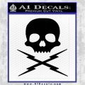 Death Proof Stuntman Mike Decal Sticker Black Logo Emblem 120x120