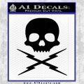 Death Proof Stuntman Mike Decal Sticker Black Logo Emblem 120x120