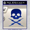 Death Proof Stuntman Mike Decal Sticker Blue Vinyl 120x120
