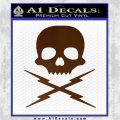 Death Proof Stuntman Mike Decal Sticker Brown Vinyl 120x120