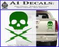 Death Proof Stuntman Mike Decal Sticker Green Vinyl 120x97