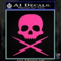 Death Proof Stuntman Mike Decal Sticker Hot Pink Vinyl 120x120