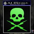 Death Proof Stuntman Mike Decal Sticker Lime Green Vinyl 120x120