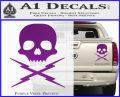 Death Proof Stuntman Mike Decal Sticker Purple Vinyl 120x97
