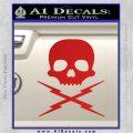 Death Proof Stuntman Mike Decal Sticker Red Vinyl 120x120