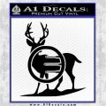 Deer In Bow Sights Decal Sticker Black Logo Emblem 120x120