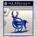 Deer In Bow Sights Decal Sticker Blue Vinyl 120x120