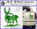 Deer In Bow Sights Decal Sticker Green Vinyl 120x97