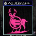 Deer In Bow Sights Decal Sticker Hot Pink Vinyl 120x120