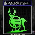 Deer In Bow Sights Decal Sticker Lime Green Vinyl 120x120