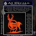 Deer In Bow Sights Decal Sticker Orange Vinyl Emblem 120x120