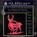 Deer In Bow Sights Decal Sticker Pink Vinyl Emblem 120x120