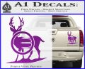 Deer In Bow Sights Decal Sticker Purple Vinyl 120x97