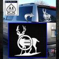 Deer In Bow Sights Decal Sticker White Emblem 120x120