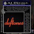 Deftones Decal Sticker Band Logo Orange Vinyl Emblem 120x120