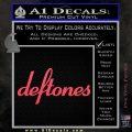 Deftones Decal Sticker Band Logo Pink Vinyl Emblem 120x120