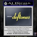 Deftones Decal Sticker Band Logo Yelllow Vinyl 120x120