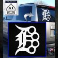 Detroit Brass Knuckles Decal Sticker White Emblem 120x120