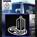 Doctor Who Rassilon Mashup Decal Sticker White Emblem 120x120