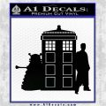 Doctor Who TARDIS Dalek INT Decal Sticker Black Logo Emblem 1 120x120