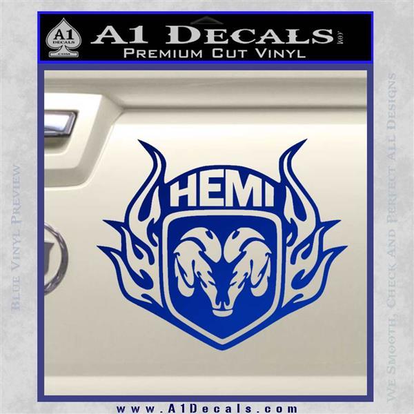 Dodge Ram Hemi Logo Vinyl Decal 187 A1 Decals