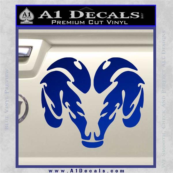 Dodge Ram Logo Tribal Decal Sticker 187 A1 Decals