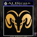 Dodge Ram Sleek Logo Decal Sticker Metallic Gold Vinyl 120x120