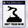Dont Tread On Me D3 Decal Sticker Black Logo Emblem 120x120