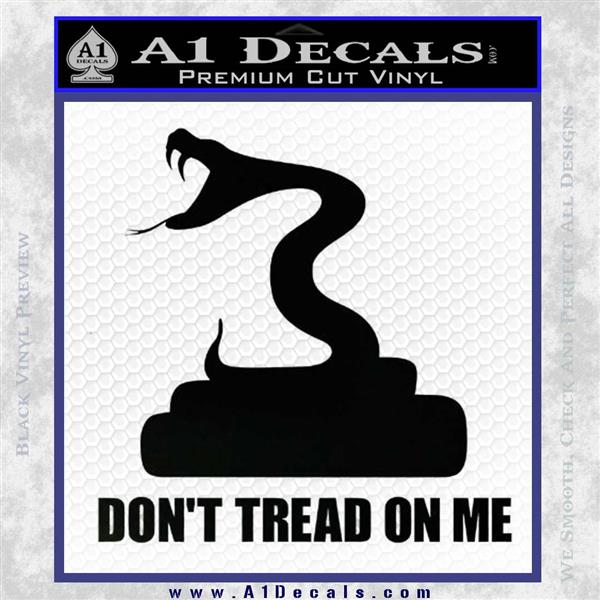 Dont Tread On Me D3 Decal Sticker Black Logo Emblem
