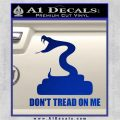 Dont Tread On Me D3 Decal Sticker Blue Vinyl 120x120