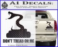 Dont Tread On Me D3 Decal Sticker Carbon Fiber Black 120x97