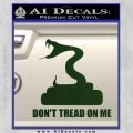 Dont Tread On Me D3 Decal Sticker Dark Green Vinyl 120x120