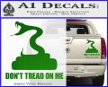 Dont Tread On Me D3 Decal Sticker Green Vinyl 120x97