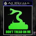 Dont Tread On Me D3 Decal Sticker Lime Green Vinyl 120x120