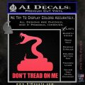 Dont Tread On Me D3 Decal Sticker Pink Vinyl Emblem 120x120