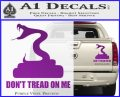 Dont Tread On Me D3 Decal Sticker Purple Vinyl 120x97