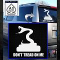 Dont Tread On Me D3 Decal Sticker White Emblem 120x120