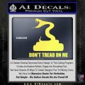 Dont Tread On Me D3 Decal Sticker Yelllow Vinyl 120x120