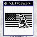 Dont Tread On Me Gadsden Snake American Flag Decal Sticker Black Logo Emblem 120x120