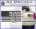 Dont Tread On Me Gadsden Snake American Flag Decal Sticker Carbon Fiber Black 120x97