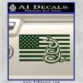 Dont Tread On Me Gadsden Snake American Flag Decal Sticker Dark Green Vinyl 120x120