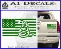 Dont Tread On Me Gadsden Snake American Flag Decal Sticker Green Vinyl 120x97